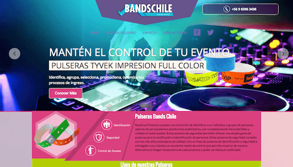Sitio Corporativo - Bands Chile